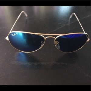Authentic Polarized Ray Ban Aviators.